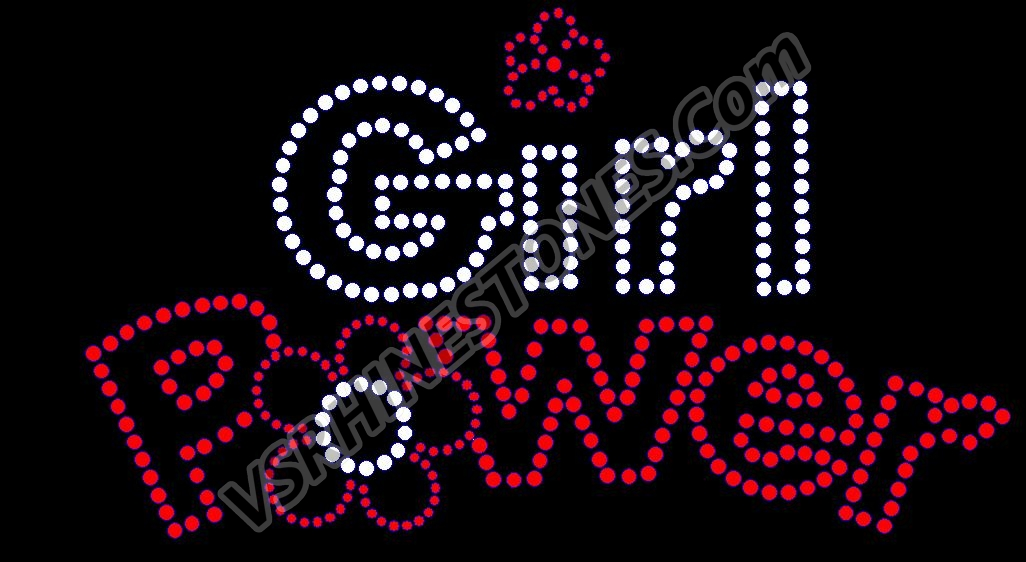 Girl Power Rhinestone Transfer