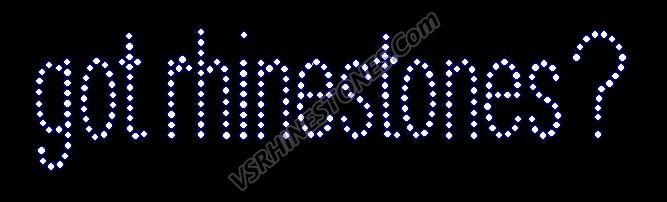 got rhinestones Rhinestone Transfer - small