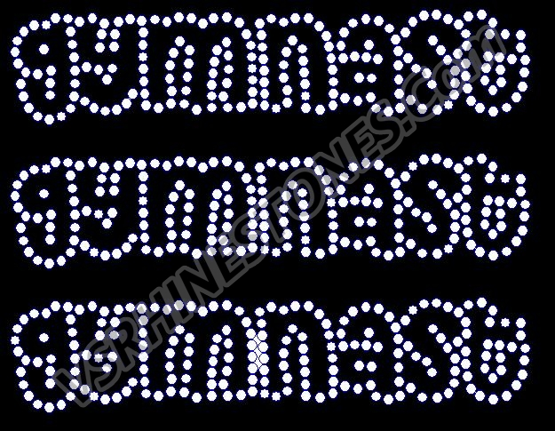 Gymnast Mini Rhinestone Transfers (3)
