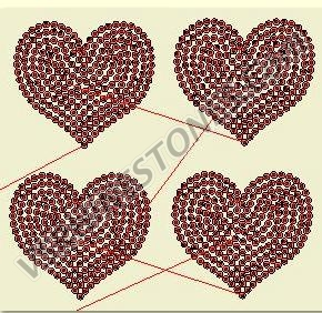 Heart Small - 4 pack - Sequin Transfer