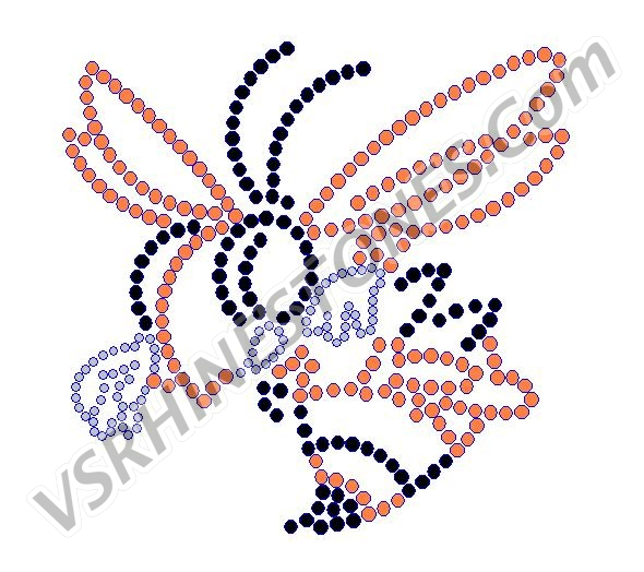 Hornet 4 Inch Color Rhinestone Transfer