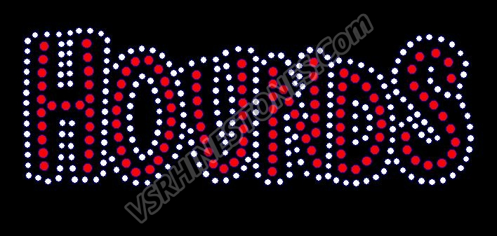 Hounds Rhinestone Transfer - Black