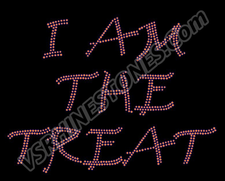 I AM THE TREAT Rhinestone Transfer