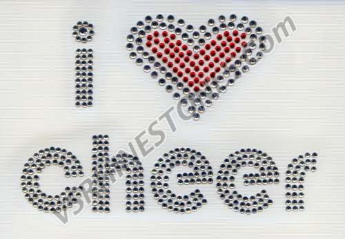 I Love Cheer - Rhinestone Transfer