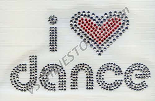 I Love Dance Rhinestone Transfer