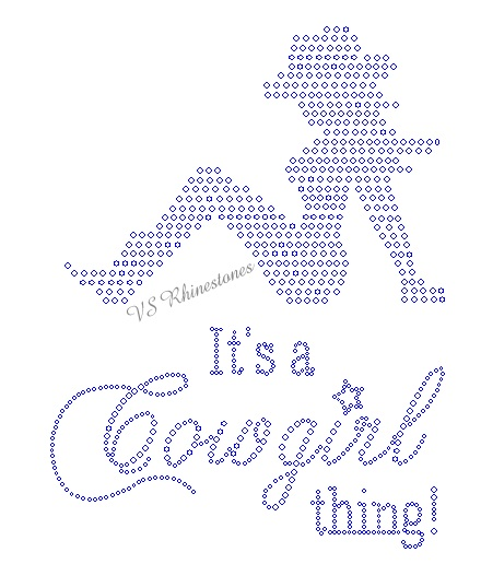 It's a COWGIRL thing! Rhinestone Transfer