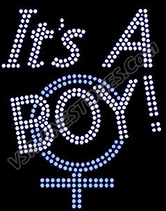 It's a Boy Rhinestone Transfer