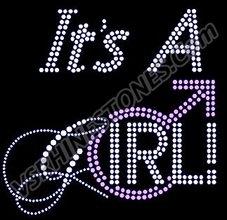 It's a Girl Rhinestone Transfer