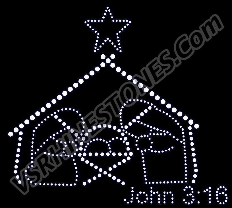 John 3:16 Rhinestone Transfer [H89200168] - $4.40 : VS Rhinestone ...