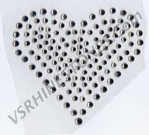 Heart Large - Set of 2 Rhinestone Transfer