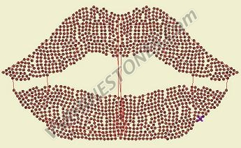 Lips Large - Sequin - Old Style