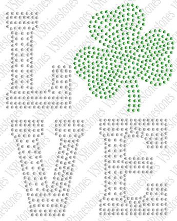 Love - Shamrock - Sequin Transfer