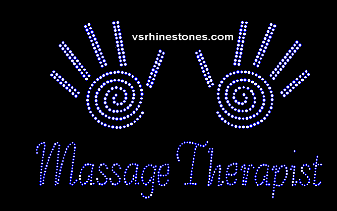 Massage Therapist Rhinestone Transfer