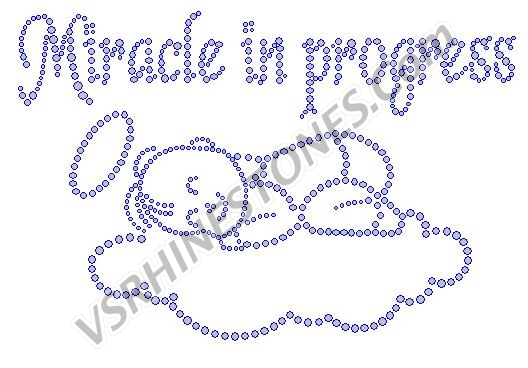 Miracle in Progress Rhinestone Transfer