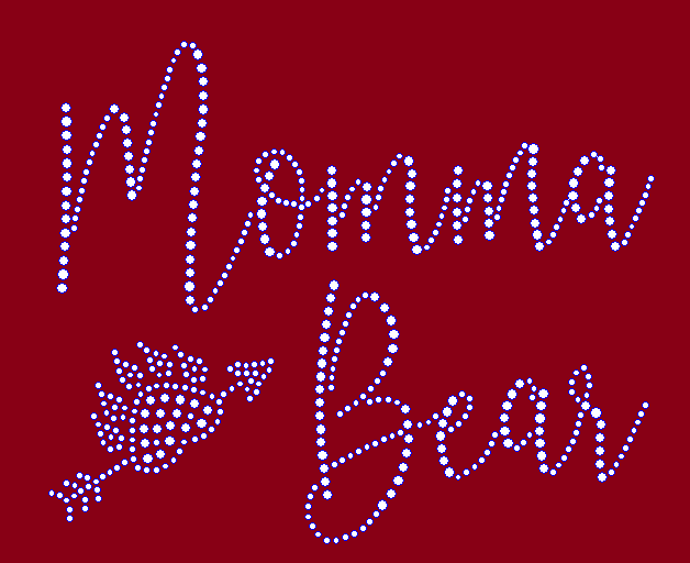 Momma Bear Rhinestone Transfer