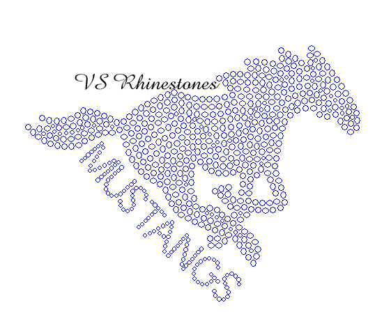 Mustang with Word CAR DECAL