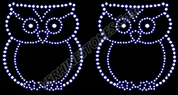 Owl - small Rhinestone Transfer (2)
