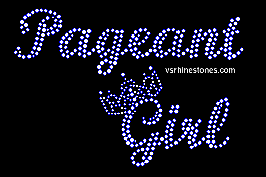 Pageant Girl Rhinestone Transfer