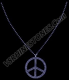 Peace Necklace Rhinestone Transfer