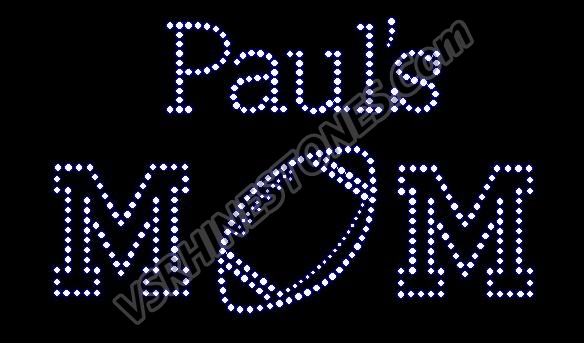 Personalized Football Mom Rhinestone Transfer