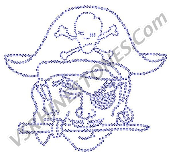Pirate Rhinestone Transfer