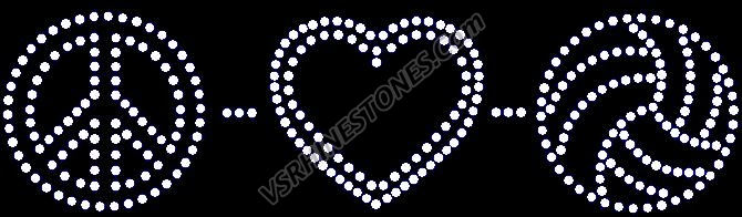 Peace Love Volleyball Rhinestone Transfer