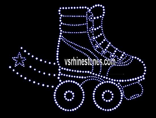 Roller Skate Rhinestone Transfer Rsrt3435353 5 70