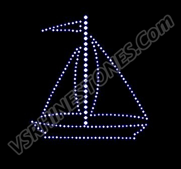 Sailboat Rhinestone Transfer - Small - Set of 2