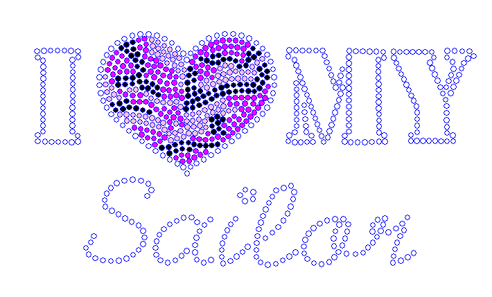 I Heart My Sailor Rhinestone Transfer - Pink Camo