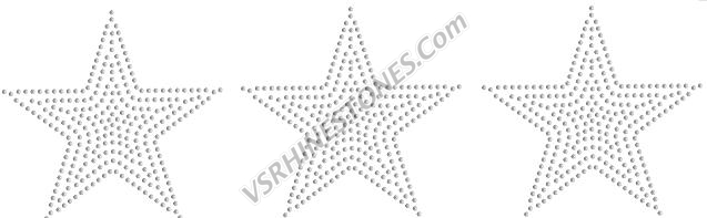 Stars- set of 3 - Sequin transfer