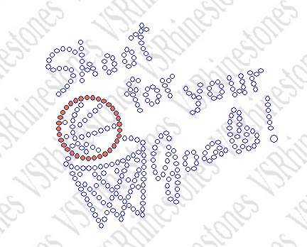 Shoot for your Goals - Cap/Koozie Size Rhinestone Transfer