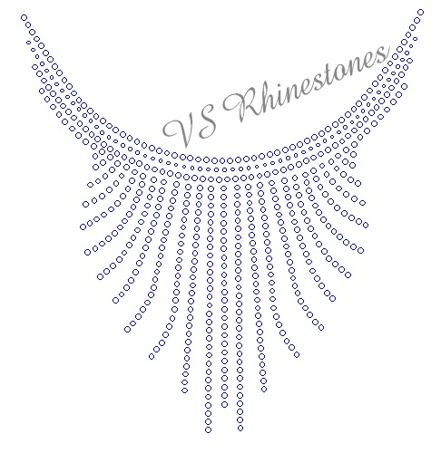 Simple Neckline Rhinestone Transfer - ON SALE