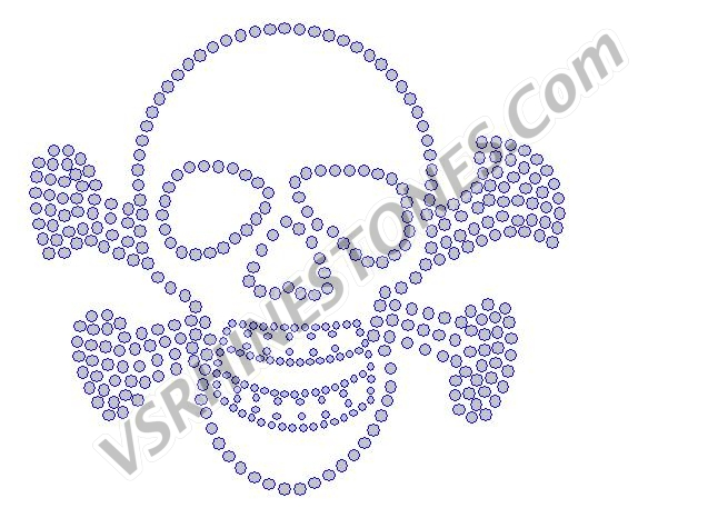 Skull and Crossbones Rhinestone Transfer