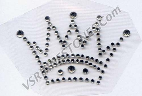 Small Tiara Rhinestone Transfer - set of 3