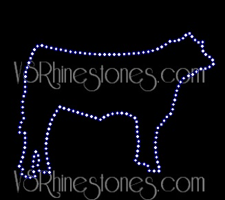 Large Show STEER Rhinestone Transfer
