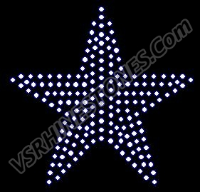 Star - Small - Set of 3 Rhinestone Transfer