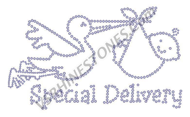 Special Delivery Rhinestone Transfer