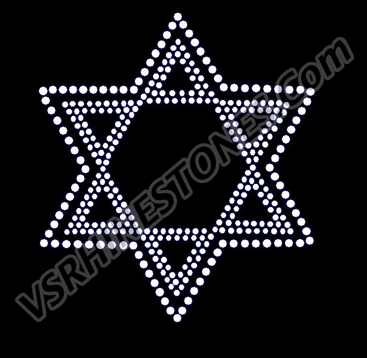Star of David Rhinestone Transfer