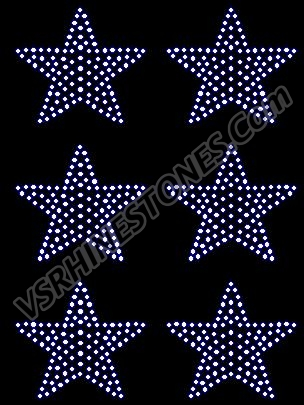 Star Mini Filled Rhinestone Transfers