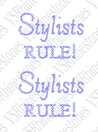 Stylists Rule Rhinestone Transfer (2) - Cap/Koozie Size