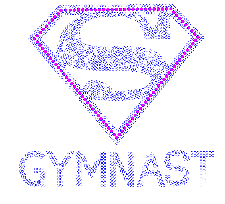 Super Gymnast Rhinestone/STUD Combo- SELECT COLOR