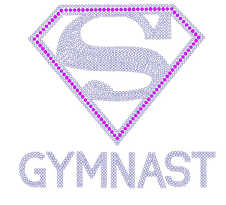 Super Gymnast Rhinestone Stud Combo Select Color