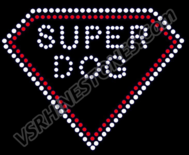 Super Dog Rhinestone Transfer