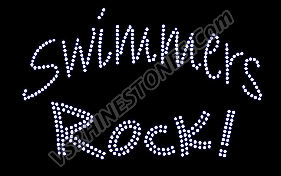 Swimmers ROCK Rhinestone Transfer