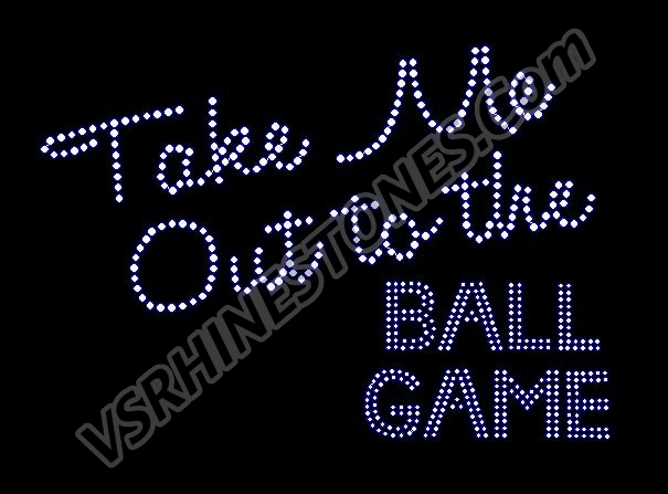 Take Me Out to the Ball Game Rhinestone Transfer