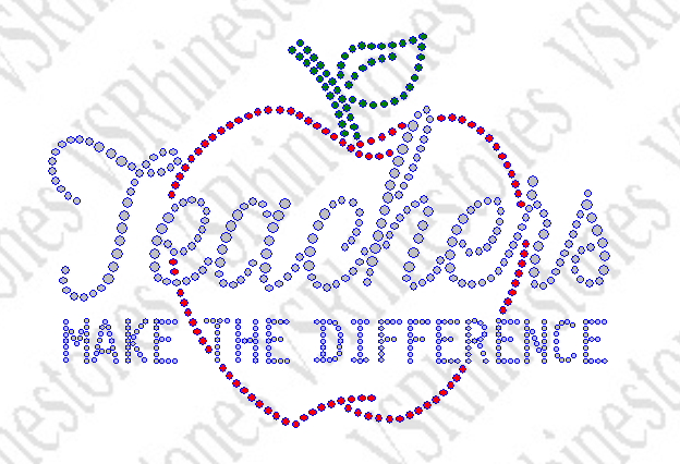 Teachers Make the Difference Rhinestone Transfer