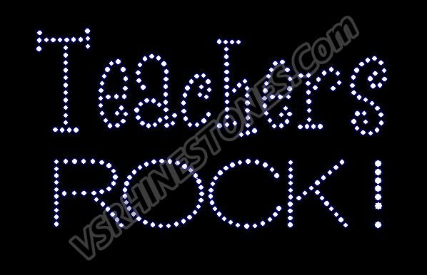 Teachers ROCK! Rhinestone Transfer