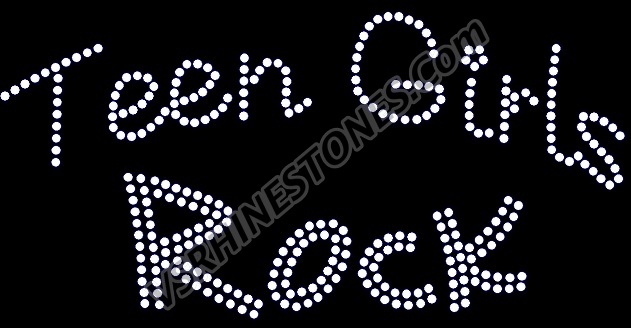 Teen Girls Rock Rhinestone Transfer