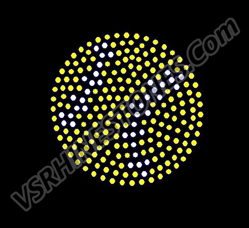 Tennis Ball - Filled Rhinestone Transfer