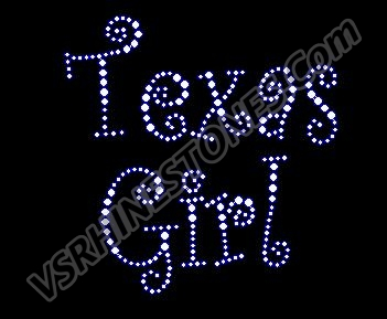 Texas Girl - Curlz Rhinestone Transfer